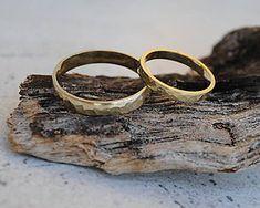 Prstene - Tepané obrúčky matné - 7804383_ Gold Rings, Handmade, Jewelry, Hand Made, Jewlery, Jewerly, Schmuck, Jewels, Jewelery