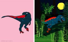 tyrannosaurus & gigantosaurus.