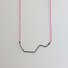 black wire & color thread by Berta Sumpsi, via Behance