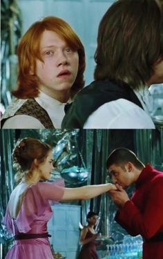 Ron and Hermione - The Yule Ball - Harry Potter and the Goblet of Fire. <3