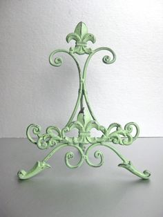 Pistachio Green Easel Metal Easel Book Stand Art Prop by Swede13, $18.00