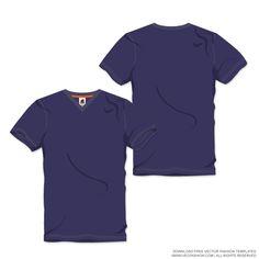 Men V-Neck T-shirt Vector Template. tecnico · CAMISETAS 943191e9bc0