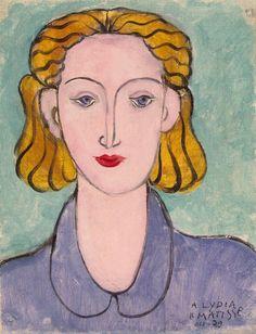 Henri Matisse. Noia amb brusa blava (Lydia Delectorskaya) , 1939.