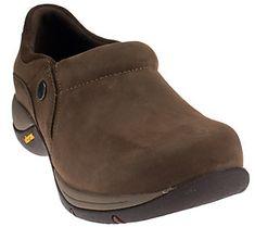 Dansko Nubuck Stain Resistant Slip-on Shoes with Vibram - Celeste