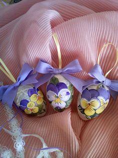 Hand painted Easter eggs - Uova di Pasqua dipinte a mano su carta di riso $5.49 etsy