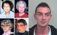 Healthcare nurse Colin Norris was jailed for life in 2008 in Leeds, England, for the murder of four of his patients, Ethal Hall, 86, Doris Ludlan, 80, Bridget Bourke, 88 and Irene Crookes, 79, and the attempted murder of Vera Wilby, 90, over a 6 month period in 2002.