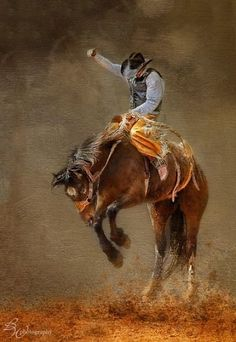 Shop for bronc art from the world's greatest living artists. All bronc artwork ships within 48 hours and includes a money-back guarantee. Choose your favorite bronc designs and purchase them as wall art, home decor, phone cases, tote bags, and more! Cowboy Horse, Cowboy And Cowgirl, Rodeo Life, Real Cowboys, West Art, Bull Riding, Le Far West, Equine Art, Horse Art