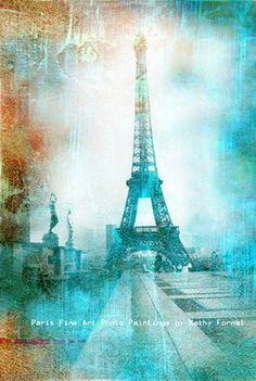 Paris Photography Dreamy Eiffel Tower Photos Spring by KathyFornal, $30.00