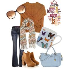 Autumn Warmth by coffeewithjen, via Polyvore
