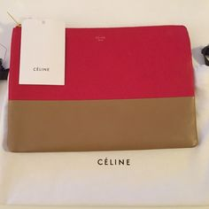 tie bags purses - Celine Colorblock Envelope Clutch - Beautiful pre-owned luxury ...