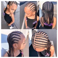 From cute pigtails to buns & twist braids, there's so much variety when it comes to kids hairstyles. Try these cute little black girl hairstyles for your girl! Lil Girl Hairstyles, Black Kids Hairstyles, Natural Hairstyles For Kids, Kids Braided Hairstyles, Natural Hair Styles, Teenage Hairstyles, Beautiful Hairstyles, Fashion Hairstyles, Little Girl Braids