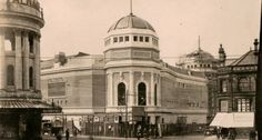 The Bradford Odeon photographed under construction. Now threatened (still) with demolition.