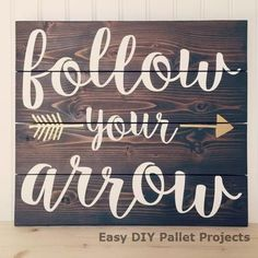 Making Rustic Wood Signs with Vinyl Decals - - Vinyl wall decals can be used as stencils for painting rustic wood signs - a hot trend this year. Check out some ideas for your next DIY! Pallet Crafts, Pallet Art, Diy Pallet Projects, Wooden Crafts, Wooden Diy, Wood Projects, Pallet Wood, Barn Wood, Woodworking Projects