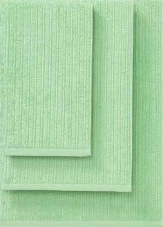 Ribbed Mint Bath Towels  | Crate and Barrel