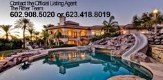 #phoenixrealestate, #azrealestate Contact the  OFFICIAL LISTING AGENT Marie 623-41-8019 or Keith 602-908-5020  for more information or visit Http://www.GlendaleAZRealEstate.com  Self Sufficient Luxury! This Custom Home, built on 2.5 acres in north Phoenix has beautiful mountain and sunset...