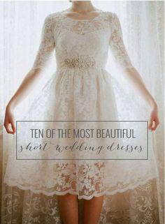 10 Of The Most Beautiful Short Wedding Dresses #Fashion #Trusper #Tip