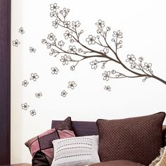 This would be cute for a wall for B. I would add a few bright birds on a branch