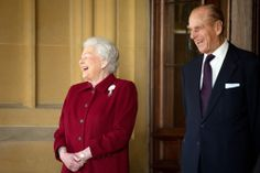 thebriitishnobility:  Queen Elizabeth and the Duke of Edinburgh, April 11, 2014