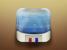 Water Cooler iOS Icon by Anthony Collurafici
