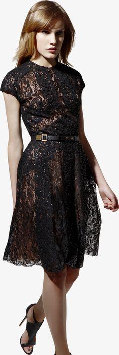 ELIE SAAB - Ready-to-Wear - Resort 2013 - black lace dress