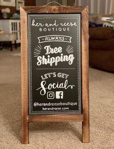 Welcome Chalkboard, Chalkboard Easel, Chalkboard Designs, Chalkboard Wedding, Sandwich Board Signs, Menu Boards, Sign Boards, Bakery Sign, Logo Sign