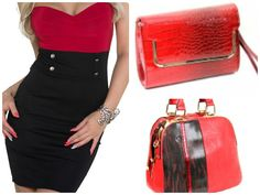 Combinación bolso y vestido. Moda en España para mujeres. Síguenos en Facebook https://www.facebook.com/xeitosomoda