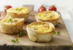Create super easy breakfast cups for the week ahead, courtesy of Soft & Fluffy Snack Wraps Best Egg Recipes, Lunch Box Recipes, Brunch Recipes, My Recipes, Breakfast Recipes, Snack Recipes, Cooking Recipes, Savoury Recipes, Brunch Ideas