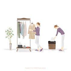 : 『40歳からの「永遠の美」を手に入れる方法』のカバーイラスト Wardrobe Rack, Illustrators, Furniture, Home Decor, Decoration Home, Room Decor, Illustrator, Home Furnishings, Home Interior Design