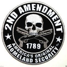 """***2nd AMENDMENT*** 3/"""" Rd Pro Gun  Pro Trump Biker Patch D"""