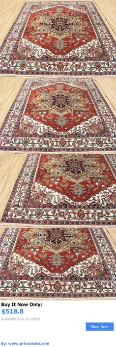 household items: 8X10 New Hand Knotted Wool Super Serapi Heriz Oriental Persian Area Rug BUY IT NOW ONLY: $518.8 #priceabatehouseholditems OR #priceabate