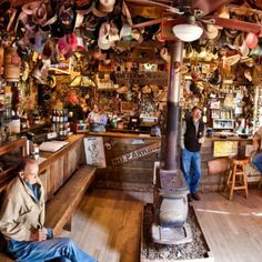 Discovered by Dan Pancamo - Luckenbach Texas is a must visit place. The post office bar in the winter will keep you...