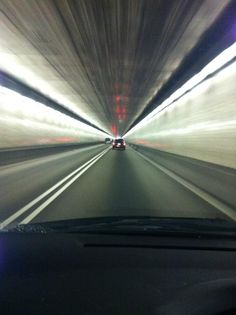 Inside the Squirrel Hill Tunnel - Pittsburgh