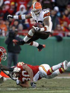 APTOPIX Browns Chiefs Football: Kansas City, MO - Josh Cribbs Photographic Print by Charlie Riedel at AllPosters.com