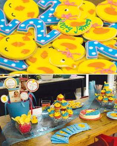 Rubber Ducky Birthday Party // Hostess with the Mostess® Second Birthday Ideas, Twin First Birthday, Little Girl Birthday, Baby Birthday, Birthday Cakes, Rubber Duck Birthday, Rubber Ducky Party, Bubble Birthday Parties, Birthday Party Themes