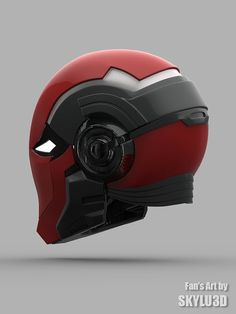 Red Hood Helmet by IdiotsArmory on Etsy