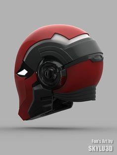 Red Hood Helmet by IdiotsArmory on Etsy