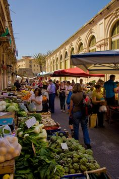 Siracusa Market in Sicily, Italy                                                                                                                                                     More