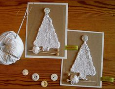 Christmas Postcard, knit a Christmas Tree !! Love this !