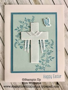 Stampin Up Hold on to Hope stamp set and framelits. Kim Williams, stampinwithkjoyink.typepad.com. Pink Pineapple paper crafts. Easter Cards made easy. This set is also great for Sympathy cards, wedding cards, baptism cards and christening cards. Stampin Up Occasions Catalog 2018. Cross, easter cross