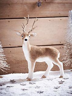 NEW Glittered Standing Deer - Festive Friends - Christmas