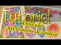 TUTORIEL ☆ Dégradés aux crayons de couleur ☆ Coloriage pour adultes / anti-stress - YouTube