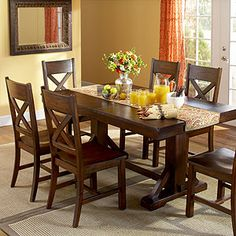 dining table @ world market. This is our kitchen table and we love it. Ours has a bench on one side though.