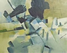 Keith Vaughan (English, 1912-1977), Blue Landscape, 1959. Oil on canvas, 28 x 35½ in.