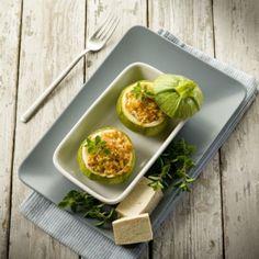 Κολοκυθάκια γεμιστά με κιμά /Stuffed zucchini