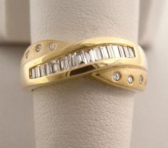 Baguette Diamond Ring .50ct Total Channel Set in Solid 14K Yellow Gold - .50 ct by americanjewelryco, $449.00