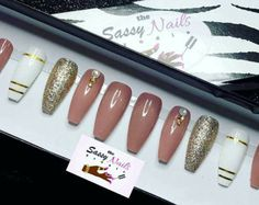 Confetti custom designer press on nails any shape and size sassy and classy available in any shape or color press on nails glue prinsesfo Choice Image