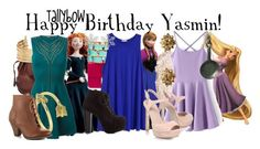 """Happy Birthday Yasmin!"" by tallybow ❤ liked on Polyvore featuring Merida, Brighton, H&M, Roberto Cavalli, Allurez, Mojo Moxy, Jimmy Choo, Ciner, Charlotte Russe and Alexander McQueen"