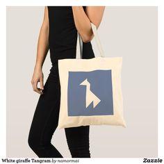 White giraffe Tangram Tote Bag