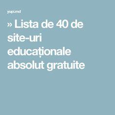 » Lista de 40 de site-uri educaționale absolut gratuite Student