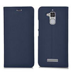 daac6ee4128a23 ELTD Asus Zenfone 3 Max ZC520TL flip cover, Wallet Style Flip cover Etui  Housse Coque Portefeuille pour Asus Zenfone 3 Max 5.2 ZC520TL, Bleu  ELTD   Asus ...